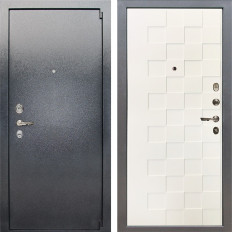 Входная дверь Лекс 3 Барк Квадро Шагрень белая (панель №71)