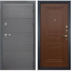 Входная дверь Лекс Легион 3К Софт графит / Береза мореная (панель №19)