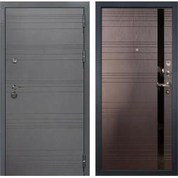 Входная дверь Лекс Сенатор 3К Софт графит / Ясень шоколад (панель №31)