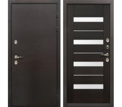 Входная уличная дверь с терморазрывом Лекс Термо Сибирь 3К Сицилио Венге (панель №51)
