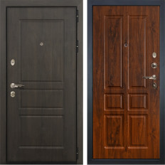 Входная дверь Лекс Сенатор Винорит Винорит дуб тёмный (панель №91)