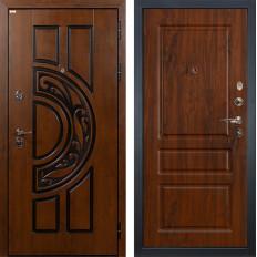 Входная дверь Лекс Спартак Cisa Винорит дуб тёмный (панель №92)