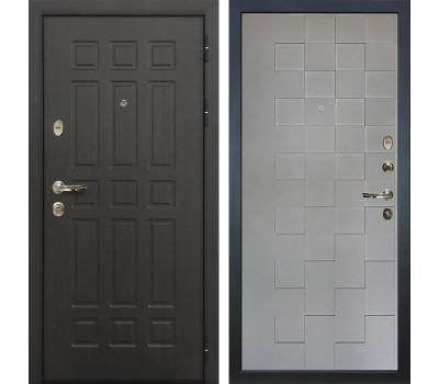 Входная металлическая дверь Лекс Сенатор 8 Графит софт Квадро (панель №72)