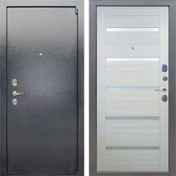 Входная стальная дверь Лекс 3 Барк Клеопатра-2 (Серый букле / Дуб беленый) панель №58