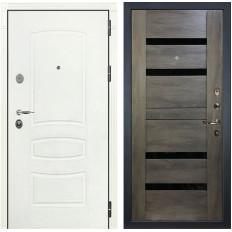 Входная дверь Лекс Легион 3К Шагрень белая / Неро Графит шале (панель №65)