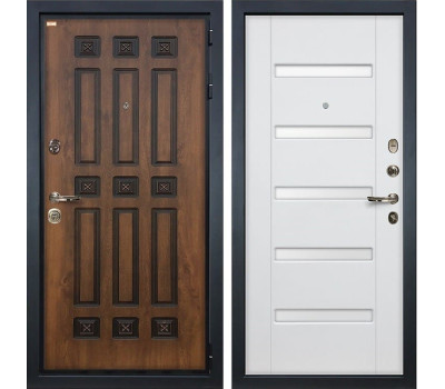 Входная металлическая дверь Лекс Гладиатор 3К Винорит Ясень белый (панель №34)