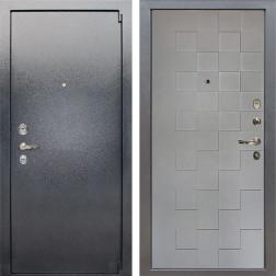 Входная стальная дверь Лекс 3 Барк Квадро (Серый букле / Софт графит) панель №72