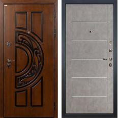 Входная дверь Лекс Спартак Cisa Бетон серый (панель №80)