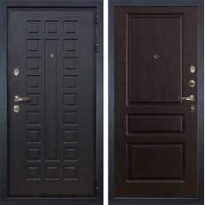 Входная дверь Лекс Гладиатор 3К Ясень шоколад (панель №93)