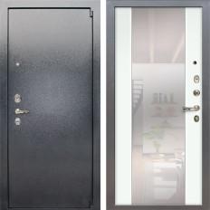 Входная дверь Лекс 3 Барк Стиль с Зеркалом Ясень белый (панель №61)