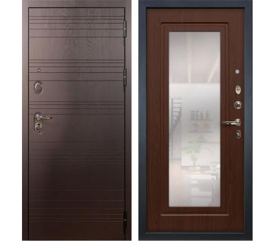 Входная стальная дверь Лекс Легион 3К с Зеркалом Береза мореная (панель №30)