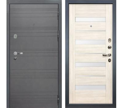 Входная стальная дверь Лекс Легион 3К Софт графит / Сицилио Дуб беленый (панель №46)