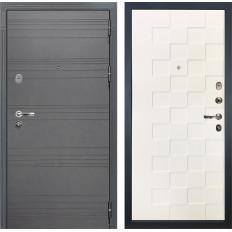 Входная дверь Лекс Легион 3К Софт графит / Белая шагрень Квадро (панель №71)