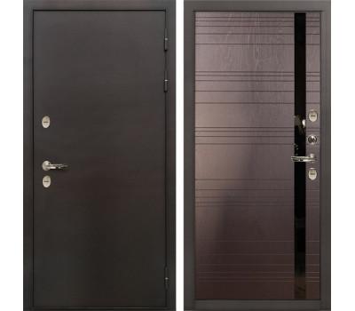 Входная уличная дверь с терморазрывом Лекс Термо Сибирь 3К Ясень шоколад (панель №31)