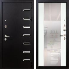 Входная дверь Лекс Витязь Стиль с Зеркалом Ясень белый (панель №61)