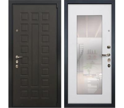 Входная стальная дверь Лекс 4А Неаполь Mottura с Зеркалом Ясень белый (панель №37)