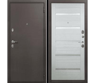 Входная стальная дверь Лекс 1А Клеопатра-2 Дуб беленый (панель №58)