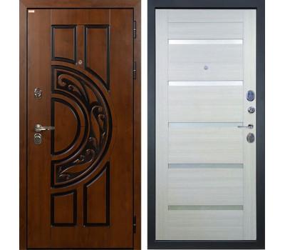 Входная стальная дверь Лекс Спартак Cisa Клеопатра-2 Дуб беленый (панель №58)