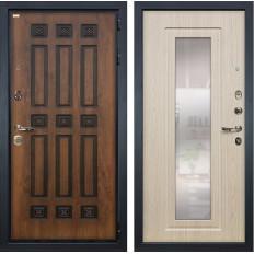 Входная дверь Лекс Гладиатор 3К Винорит с Зеркалом Дуб беленый (панель №23)