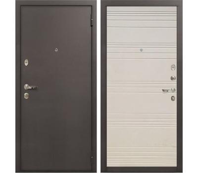 Входная стальная дверь Лекс 1А Дуб фактурный кремовый (панель №63)