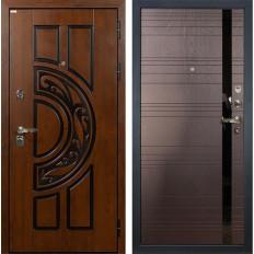 Входная дверь Лекс Спартак Cisa Ясень шоколад (панель №31)