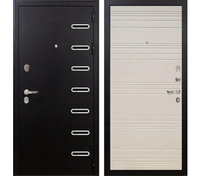 Входная металлическая дверь Лекс Витязь Дуб фактурный кремовый (панель №63)