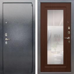Входная стальная дверь Лекс 3 Барк с Зеркалом (Серый букле / Береза мореная) панель №30