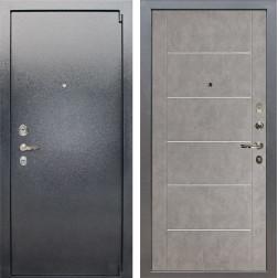 Входная стальная дверь Лекс 3 Барк (Серый букле / Бетон серый) панель №80