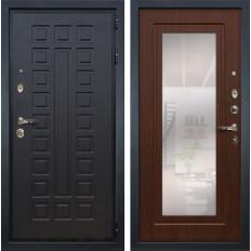 Входная дверь Лекс Гладиатор 3К с Зеркалом Береза мореная (панель №30)