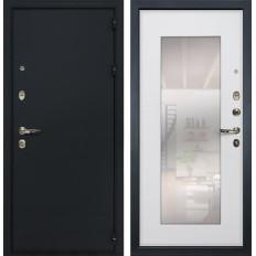 Входная дверь Лекс 2 Рим с Зеркалом Ясень белый (панель №37)
