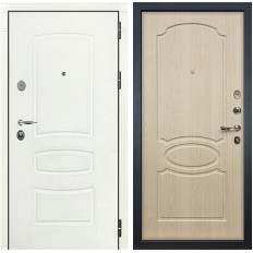 Входная дверь Лекс Легион 3К Шагрень белая / Дуб беленый (панель №14)