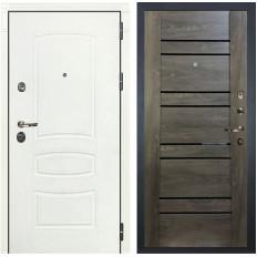 Входная дверь Лекс Сенатор 3К Шагрень белая / Терра Графит шале (панель №64)