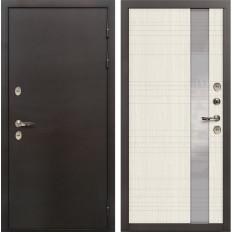 Входная дверь с терморазрывом Лекс Термо Сибирь 3К Новита Дуб беленый (панель №52)