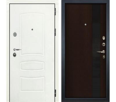 Входная стальная дверь Лекс Легион 3К Шагрень белая / Новита Венге (панель №53)