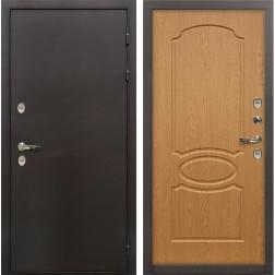 Входная уличная дверь с терморазрывом Лекс Термо Сибирь 3К Дуб натуральный (панель №15)