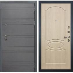 Входная металлическая дверь Лекс Сенатор 3К Софт графит / Дуб беленый (панель №14)