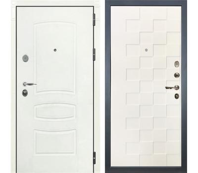 Входная стальная дверь Лекс Легион 3К Шагрень белая / Шагрень белая Квадро (панель №71)