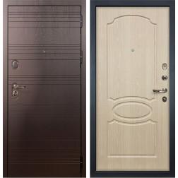 Входная стальная дверь Лекс Легион 3К Дуб беленый (панель №14)