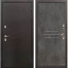 Входная дверь с терморазрывом Лекс Термо Сибирь 3К Бетон тёмный (панель №82)