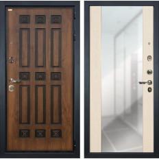 Входная дверь Лекс Гладиатор 3К Винорит Стиль с Зеркалом Дуб беленый (панель №45)