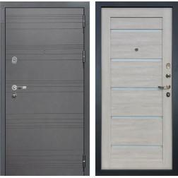 Входная стальная дверь Лекс Легион 3К Софт графит / Клеопатра-2 Ясень кремовый (панель №66)