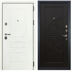 Входная дверь Лекс Сенатор 3К Шагрень белая / Венге (панель №43)
