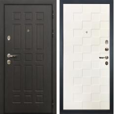 Входная дверь Лекс Сенатор 8 Белая шагрень Квадро (панель №71)