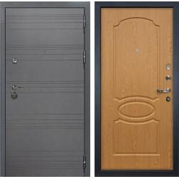 Входная металлическая дверь Лекс Сенатор 3К Софт графит / Дуб натуральный (панель №15)