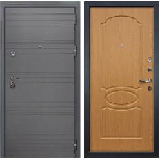 Входная дверь Лекс Сенатор 3К Софт графит / Дуб натуральный (панель №15)