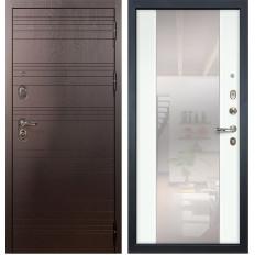 Входная дверь Лекс Легион Стиль с Зеркалом Ясень белый (панель №61)