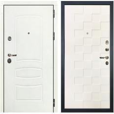 Входная дверь Лекс Сенатор 3К Шагрень белая / Шагрень белая Квадро (панель №71)