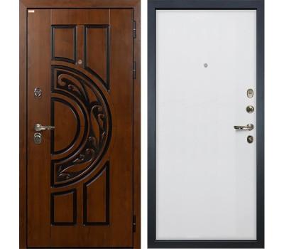 Входная стальная дверь Лекс Спартак Cisa Ясень белый (панель №62)