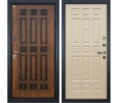 Входная металлическая дверь Лекс Гладиатор 3К Винорит Дуб беленый (панель №28)