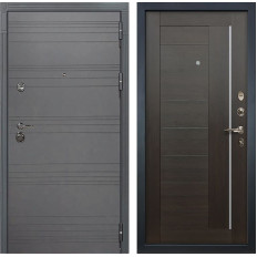 Входная дверь Лекс Сенатор 3К Софт графит / Верджиния Венге (панель №39)